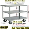 STEEL SERVICE CARTS 99SF