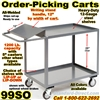 ORDER PICKING CARTS W/WRITING SHELF 99SO