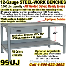 HEAVY DUTY WORK BENCHES / 99UJ