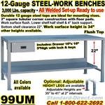 HEAVY DUTY WORK BENCHES / 99UM