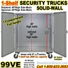 SOLID WALL STEEL SECURITY TRUCKS 99VE