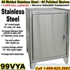 STAINLESS STEEL BENCH CABINETS / 99VYA