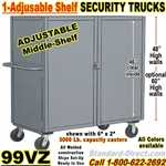 SOLID WALL STEEL SECURITY TRUCKS 99VZ