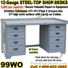 WORK BENCH STEEL DESKS / 99WO