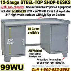 WORK BENCH STEEL DESKS / 99WU