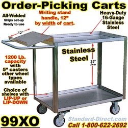 ORDER PICKING CARTS WITH WRITING SHELF 99XO