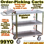 ORDER PICKING CARTS WITH WRITING SHELF 99YO
