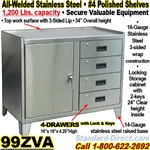 STAINLESS STEEL BENCH CABINETS / 99ZVA