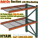 Add-On Pallet Racks with Wire-Decking / HYAW