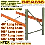 Quick Ship Pallet Rack Beams / HYBM