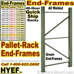 Quick Ship Pallet Rack End-Frames / HYEF