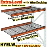 Pallet rack Extra Level with Wire-Decking / HYELW