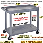 2-Shelf Plastic Cart / LXEC11