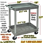 2-Shelf Plastic Cart / LXSTC11