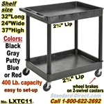 2-Shelf Plastic Cart / LXTC11