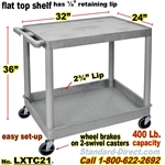2-Shelf Plastic Cart / LXTC21