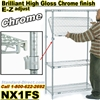 Chrome E-Z adjust Wire 4-Shelf units / NX1F