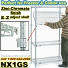 Zinc-Chromate E-Z adjust Wire 4-Shelf units / NX1G