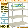 SOLID Plastic Shelving, 4-Shelf units / NX1K