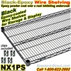 Black Epoxy Wire Shelves / NX1PS