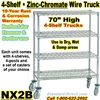 Zinc Chromate Wire Shelf Truck 4-Shelf / NX2B