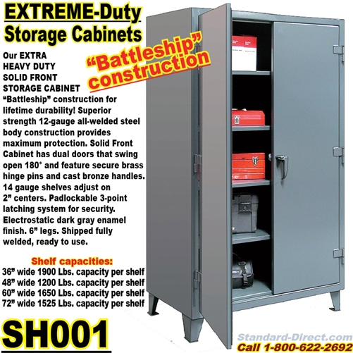 sc 1 st  Standard-Direct.com & Extreme Duty Steel Storage Cabinets / SH001