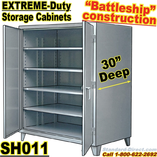 extreme duty steel 30 inch deep storage cabinets sh011 rh standard direct com