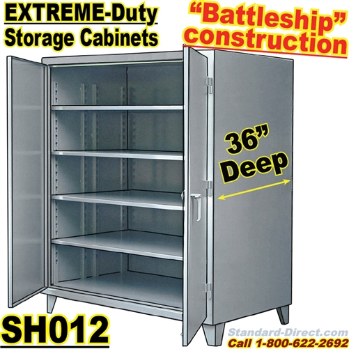 sc 1 st  Standard-Direct.com & Extreme Duty Steel 36 inch deep Storage Cabinets / SH012