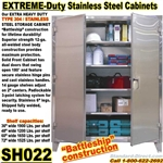 Extreme Duty Stainless Steel Storage Cabinets / SH022
