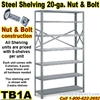 20ga. OPEN STEEL SHELVING/N&B / TB1A