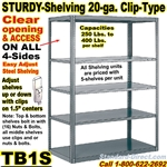 20ga. OPEN STEEL STURDY-SHELF / TB1S