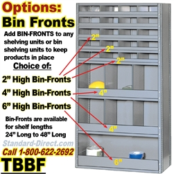 BIN-FRONTS FOR SHELVING / TBBF