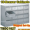 16 Drawer Industrial Parts Cabinets / TBDC1627