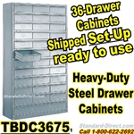 36 Drawer Industrial Parts Cabinets / TBDC3675
