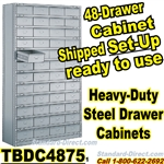 48 Drawer Industrial Parts Cabinets / TBDC4875