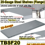 20-GAUGE FLANGED STEEL SHELVES / TBSF20