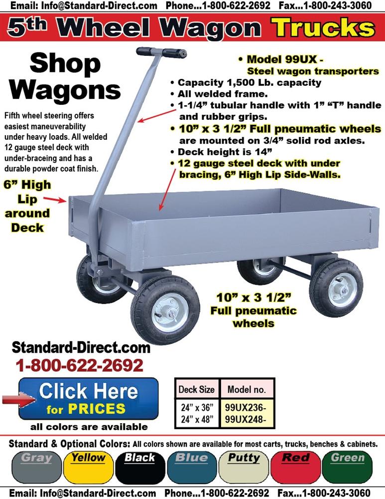 Wagon 5th Wheel Trucks Rolling Wagons Platform Trucks