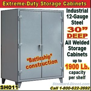Battleship Construction Storage Cabinets, All Welded 12 Gauge ...