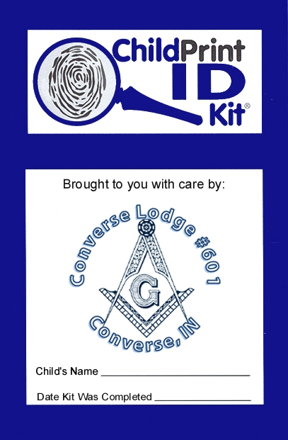 100 Custom ChildPrint ID Kits, Converse Lodge #601