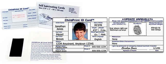 ChildPrint ID Card Single Purchases