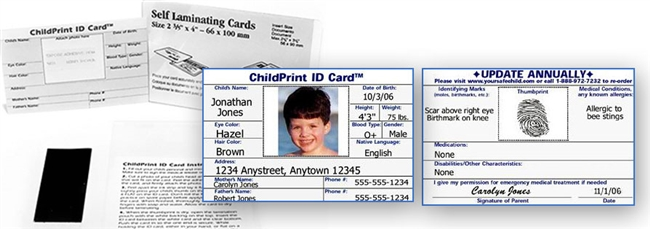 ChildPrint ID Card Quantity Purchases