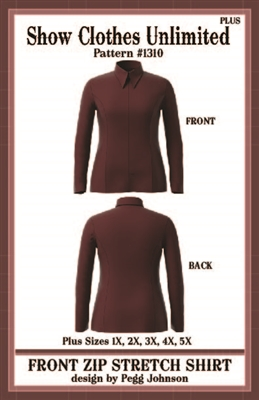 front zip show shirt, princess seamed show shirt, rail shirt, rail shirt pattern, sewing pattern, sew your own show clothes, Show Clothes Unlimited, Pegg Johnson, Show Clothes Unlimited patterns, Show Clothes Unlimited Equestrian Wear Patterns