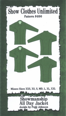 showmanship jacket pattern, all day jacket pattern, western show jacket pattern, sewing pattern, sew your own show clothes, Show Clothes Unlimited, Pegg Johnson, Show Clothes Unlimited patterns, Show Clothes Unlimited Equestrian Wear patterns