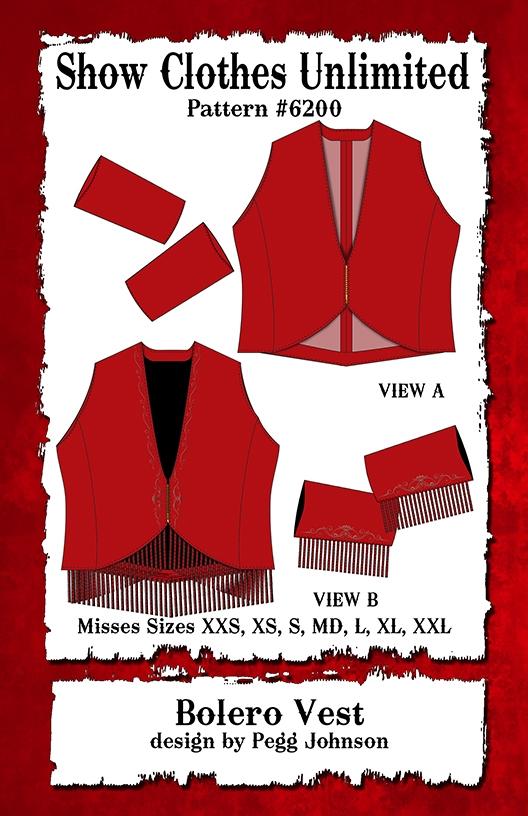 Bolero Show Vest Western Show Vest Sweetheart Neckline Square