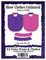 E-Z False Front, english bib, dickie, button front shirt, english shirt, Show Clothes Unlimited, Pegg Johnson, Show Clothes Unlimited patterns, Show Clothes Unlimited Equestrian Wear patterns