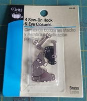 Pant hook and eye fasteners.