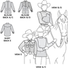 S3361 - Womens and Girls Blouse and Childrens Western Shirt Pattern