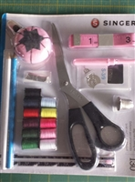 Sewing kit, scissors, tape measure, seam ripper, pin cushion, hem gauge, hand needles, dressmaker pins and more