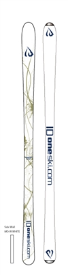 picture of the ID One USA Mogul ski MR-J 130 140 and 150 cm in white