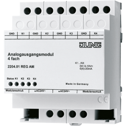 JUNG Analogue actuator module, 4-gang